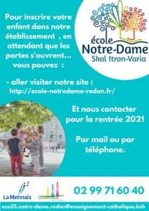 Portes ouvertes école Notre Dame Redon